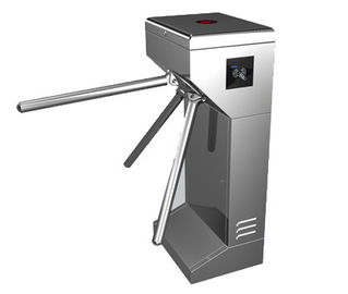 چین Time Attendance / Tolling 0.2S Stainless Steel ID Card Tripod Turnstile Gate for Musem کارخانه