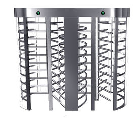 Automatic Electric Full Height Turnstile Entrance Gate With Stainless Steel Tube