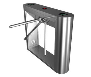 چین Magnetic Card Stainless Steel Tripod Turnstile Gate for Supermarket کارخانه