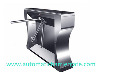 چین Single / Dual Direction Remote Control Stainless Tripod Turnstile For Supermarket کارخانه