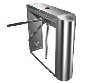 چین 0.2s Dual Direction Barcode Stainless Steel Tripod Turnstile Gate for Museum, Library کارخانه
