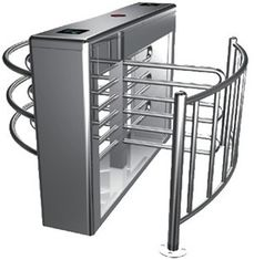 چین 0.2s RS485 Stainless Steel Tube Automatic Rotation Full Height Turnstile For Subway کارخانه