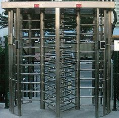 چین 30 Persons / Min Stainless Full Height Turnstile with Sound and Light Alarm for Museum کارخانه