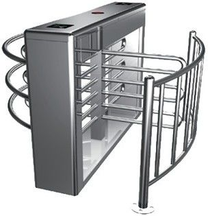 0.2s RS485 Stainless Steel Tube Automatic Rotation Full Height Turnstile For Subway تامین کننده